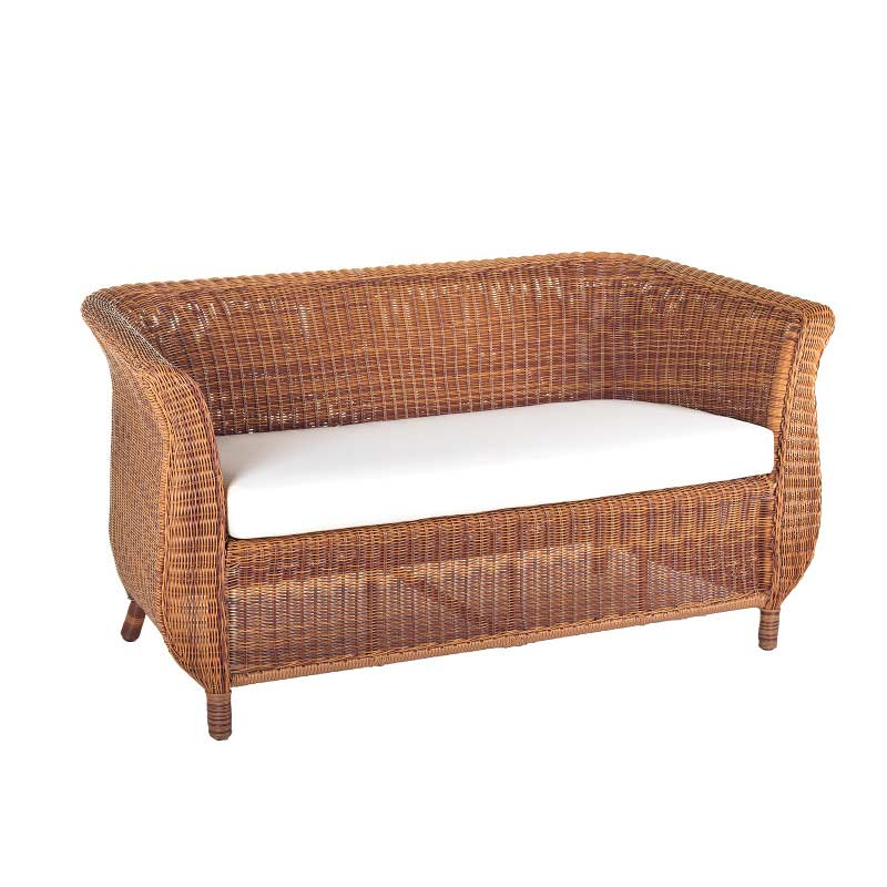 Cozy bay jamaica rattan two seater sofa with cushions java for Sofa bed jamaica