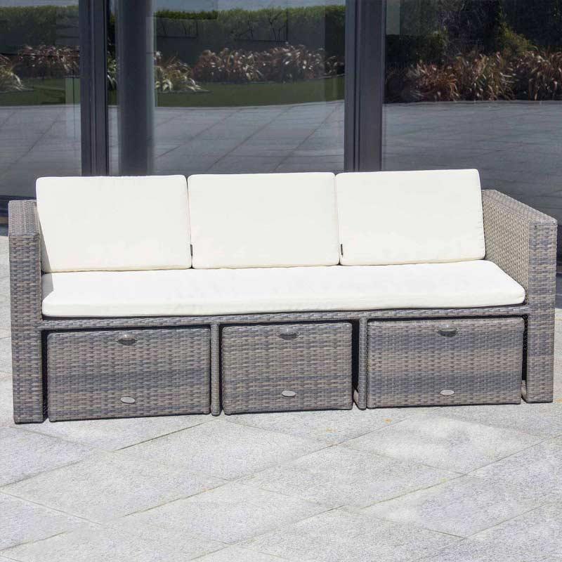 oseasons mayson rattan 5 seat square garden lounge set