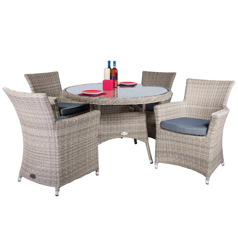 Oseasons eden 4 seater dining set champagne on sale fast for Furniture quick delivery