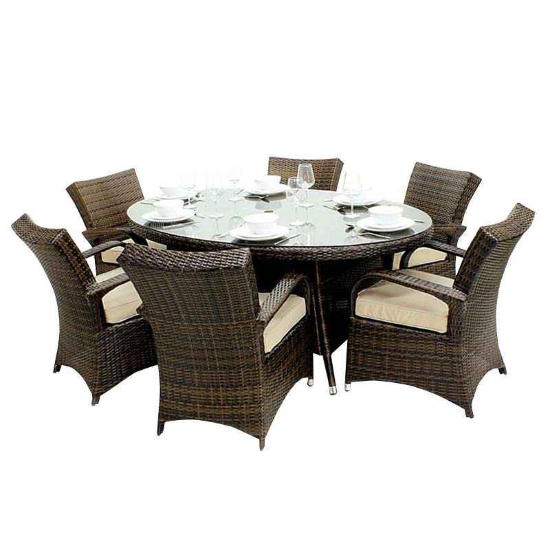 Oseasons Windsor Rattan 6 Seater 150cm Oval Dining Set On Sale