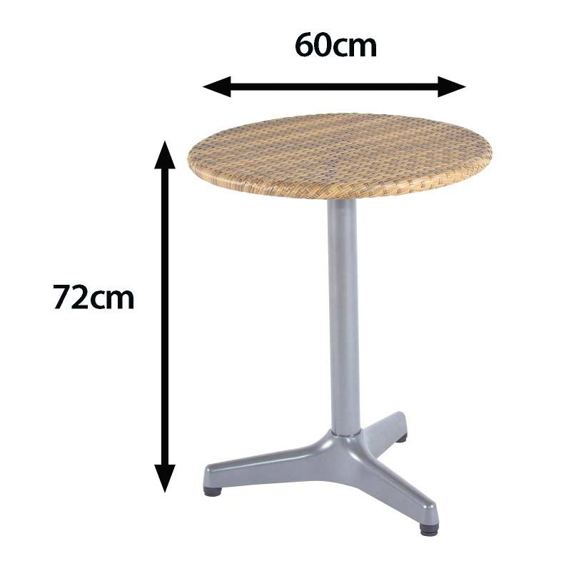 Sol bistro luca 2 chair 60cm bistro coffee table four seasons for Coffee table 60cm