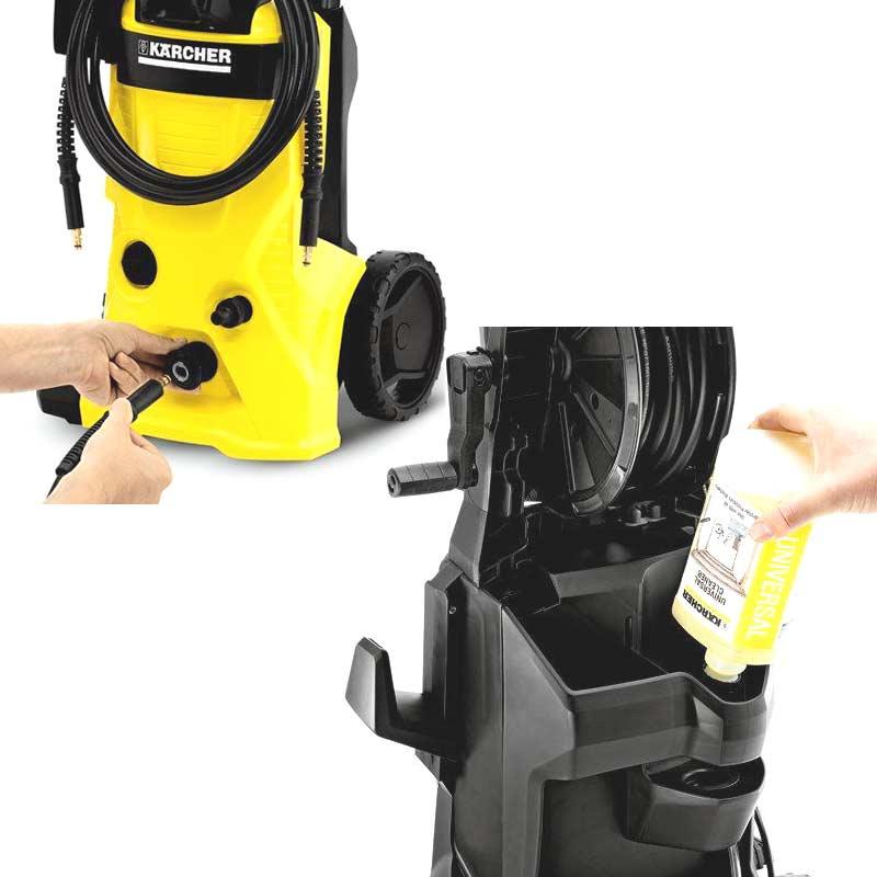 karcher k4 premium eco home pressure washer patio cleaner 6m hose1800w. Black Bedroom Furniture Sets. Home Design Ideas