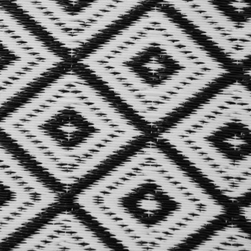 Arabian Nights Black and White Outdoor Rug 150 x 240cm on Sale