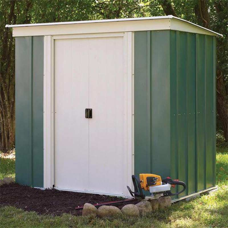 Rowlinson Metal Pent Shed W6ft X D4ft On Sale Fast
