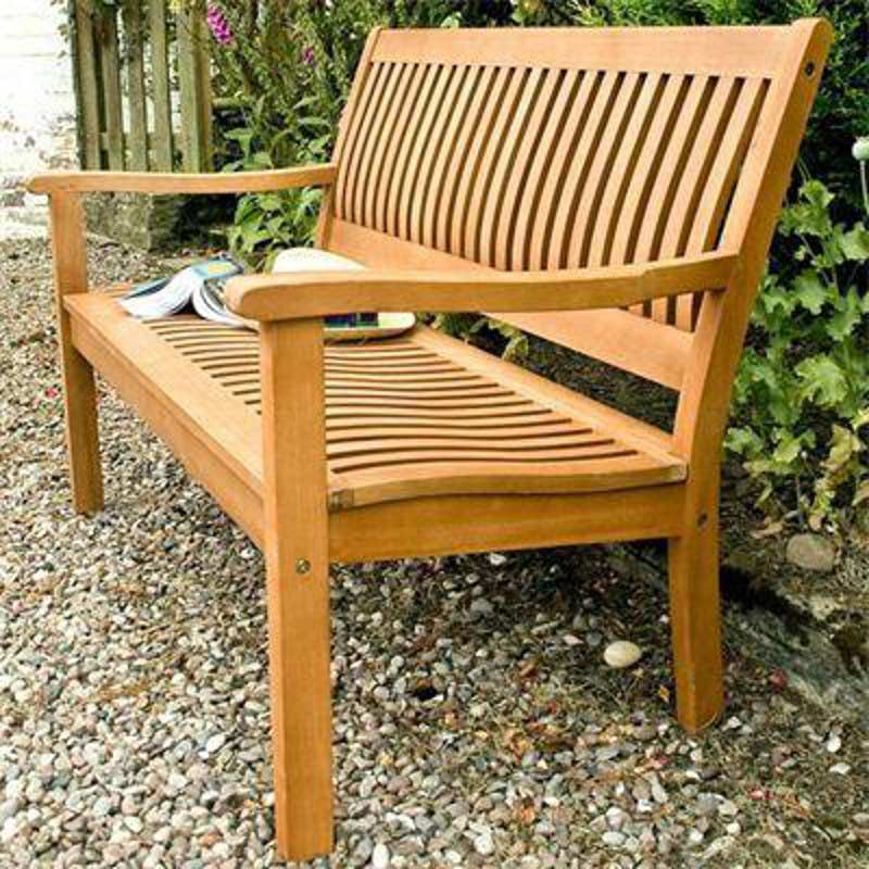Rowlinson garden products willington 2 seater bench on sale for How to build a wooden bench with a back
