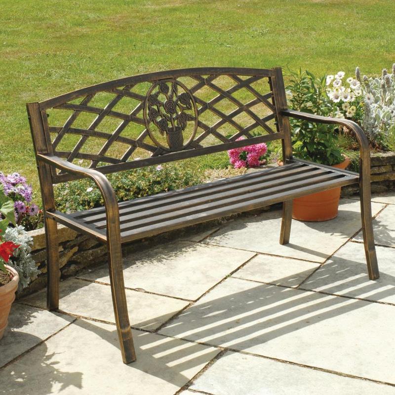 Greenhurst Coalbrookdale 2 Seater Bench Dark Copper On Sale