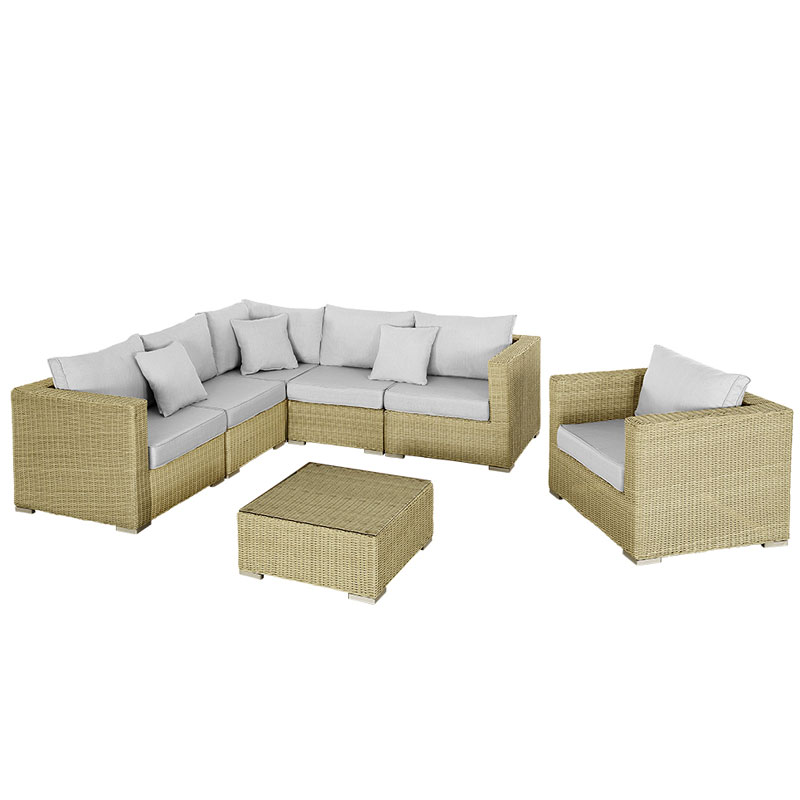 Rattan Corner Sofa 0 Finance: Rattan Corner 5 Seater Sofa And Armchair With 70cm Table