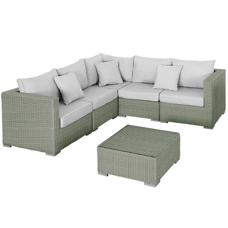 Rattan 5 Seater Sofa Set: Rattan Corner 5 Seater Sofa And Armchair With 70cm Table