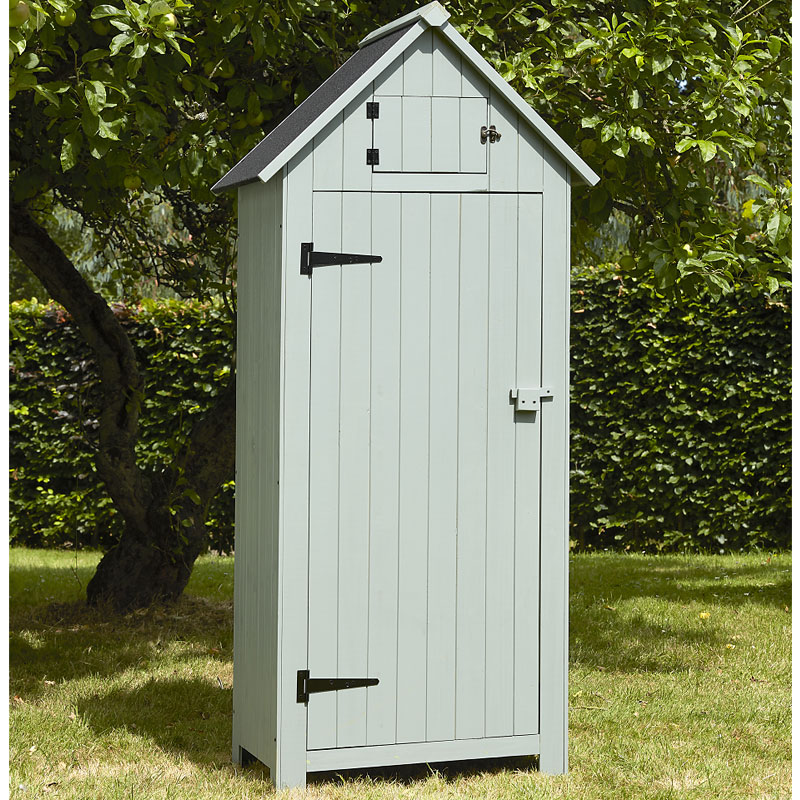Brundle garden tool shed pale green w25ft x d15ft on sale for Small outdoor sheds for sale