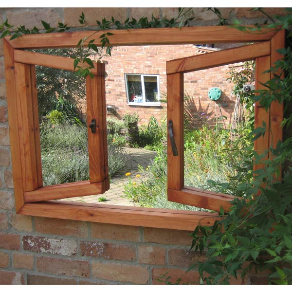 Parallax double window ajar garden mirror on sale fast for Window mirrors for sale