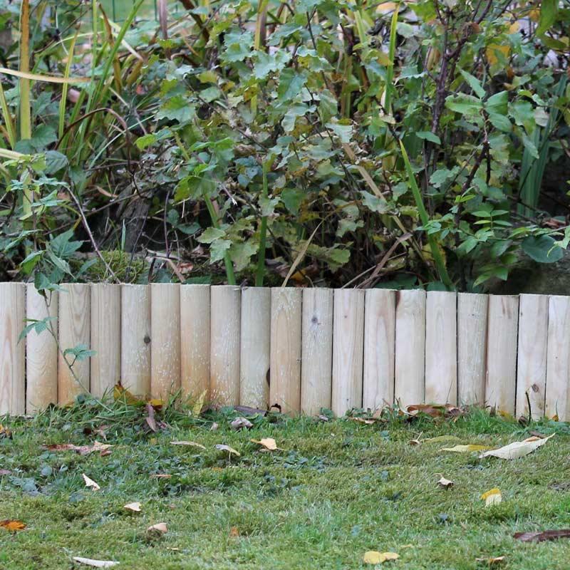Mercia fsc log roll 180cm x h30cm 10 pieces on sale fast for Log garden edging