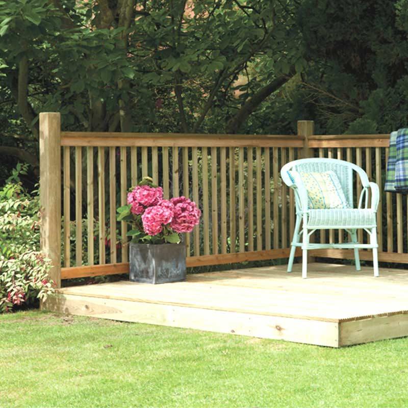 Backyard Deck Kits :  deck kit transform your garden with this forest garden fsc patio deck