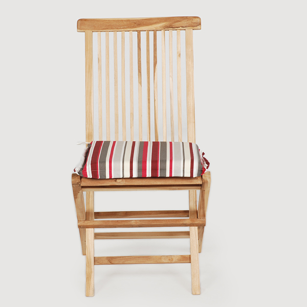 Greenfingers Teak Folding Chair With Cushion Candy On Sale