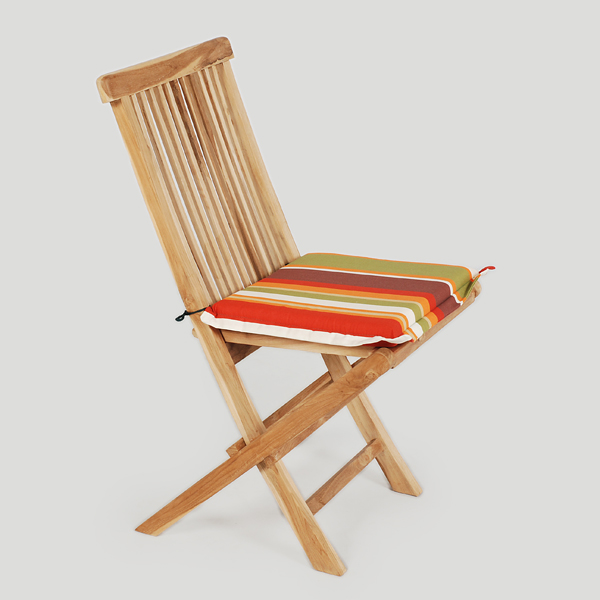 Greenfingers Teak Folding Chair With Cushion Autumn On Sale