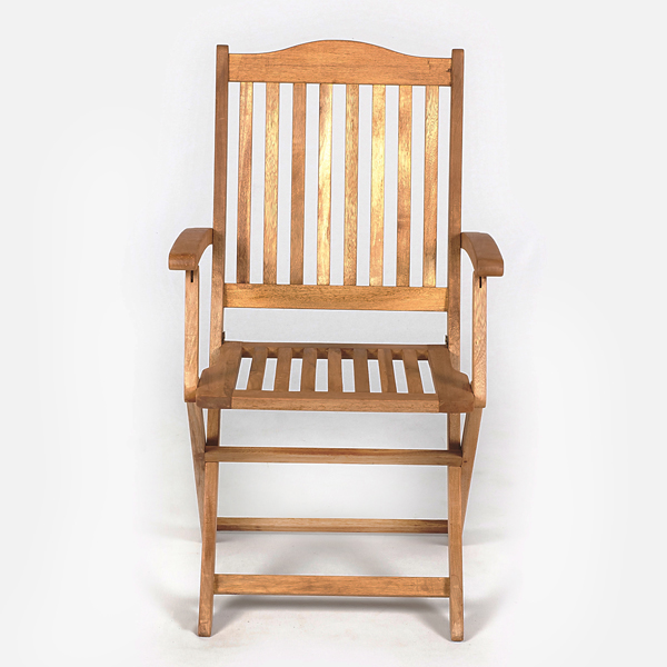 Ellister Cadiz FSC Acacia High Back Folding Armchair on Sale