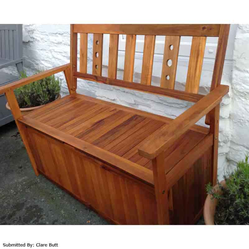 garden storage benches in stock now. Black Bedroom Furniture Sets. Home Design Ideas