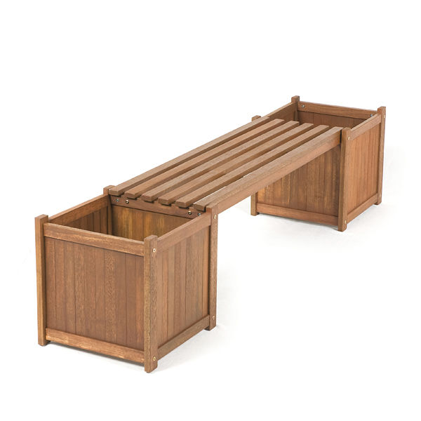 Greenfingers Loreto FSC Shorea Planter Box Bench On Sale Fast Delivery Gr