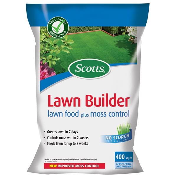 Scotts Lawnbuilder With Mosskiller 400m Sq On Sale Fast
