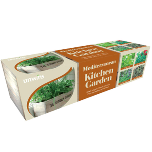 Kitchen Garden Kit: Unwins Mediterranean Kitchen Garden Herb Kit On Sale
