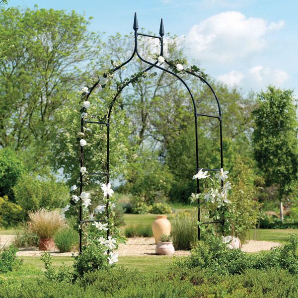 Greenfingers value garden arch - Decoration metal pour jardin ...
