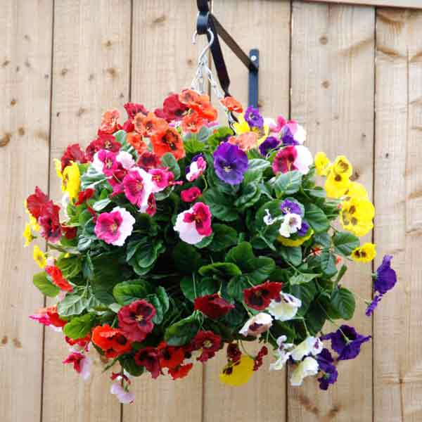 Who Has Hanging Flower Baskets On Sale : Hanging baskets wall planters sale fast delivery