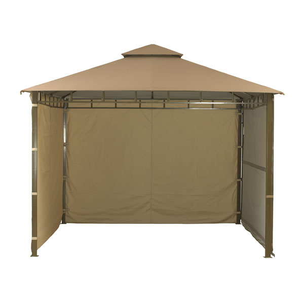 Extending Mocha Gazebo with Side Curtains 33m on Sale | Fast Delivery ...
