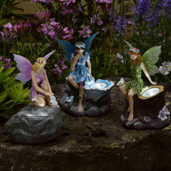 smart solar fairy spotlights set of 3 on sale fast delivery
