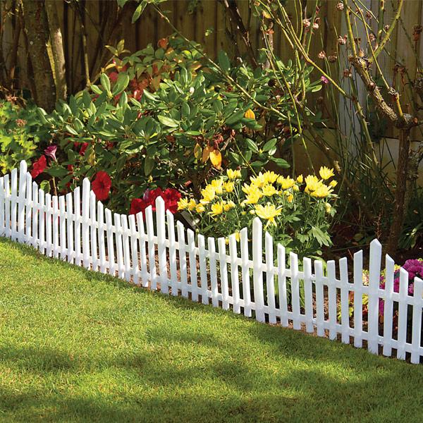 White Lattice Flower Bed Border