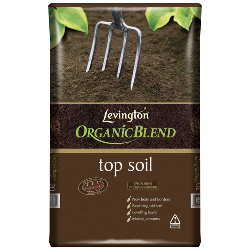 Levington organic blend top soil 20 litres on sale fast for Organic soil for sale