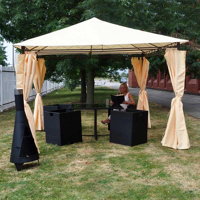 Heavy Duty Garden Gazebo With Side Curtains On Sale Fast
