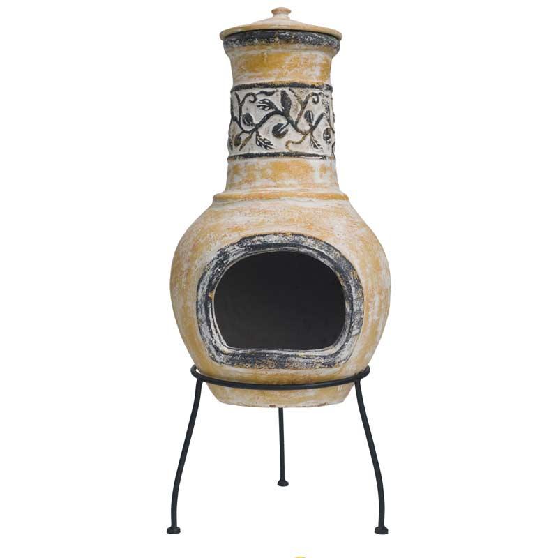 Sale Chiminea. Chiminea: Havana Medium Black Cast Iron