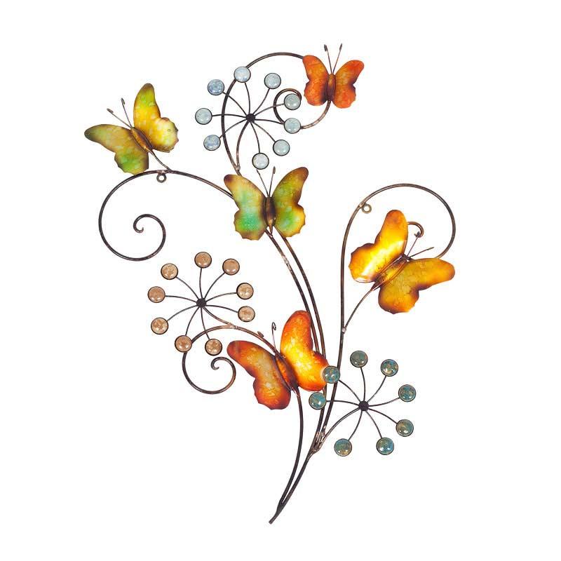 La Hacienda Butterflies And Flowers Wall Art On Sale