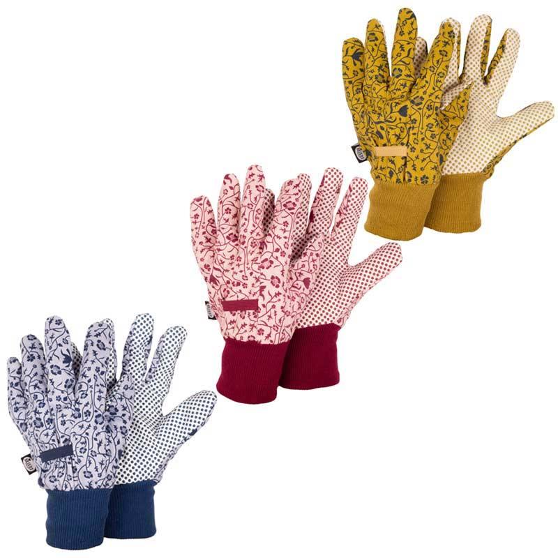 Briers ladies floral gardening gloves triple pack medium for Gardening gloves ladies
