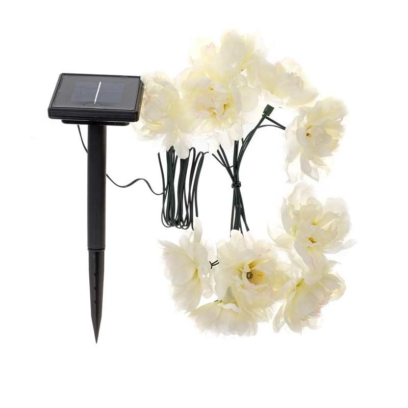Smart Garden Solar White Rose String Light 10 LED on Sale