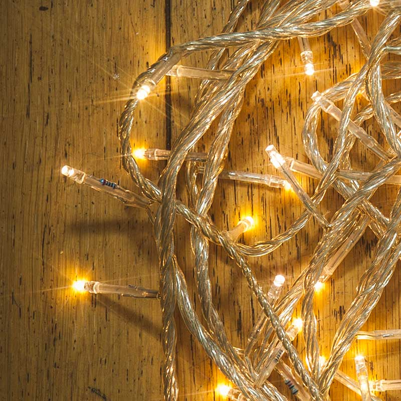 White String Christmas Lights Led : Christmas LED Multifunction String Lights 120 Warm White Clear Cable