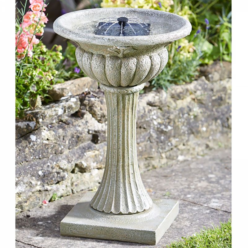 smart garden solar rochester bird bath on sale fast delivery. Black Bedroom Furniture Sets. Home Design Ideas