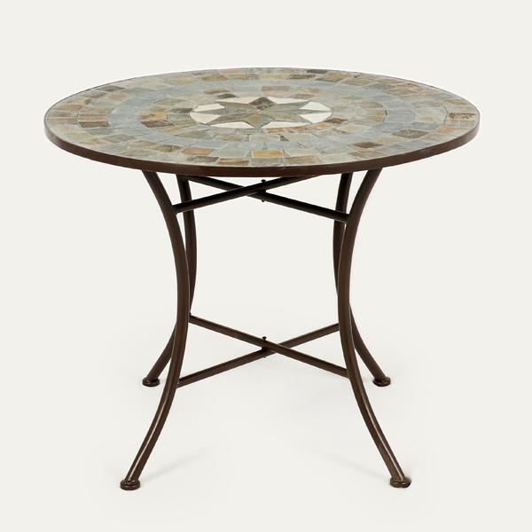 Ellister zurich mosaic patio table 80cm on sale fast for Outdoor furniture zurich