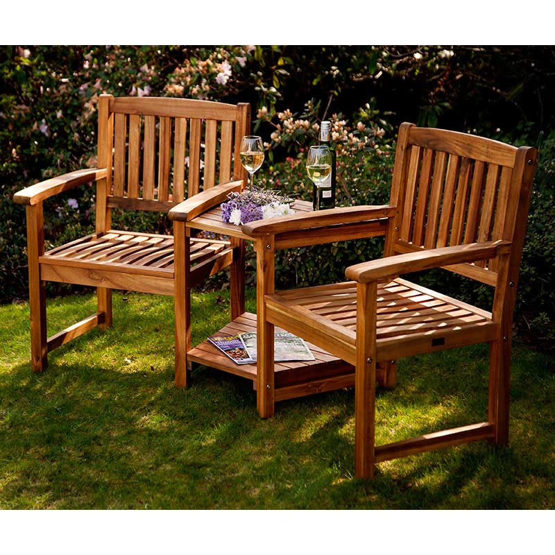 Garden Seating: Greenfingers Alnwick Companion Seat On Sale