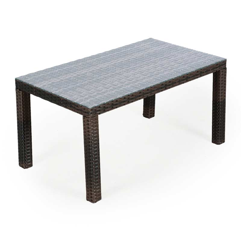Ellister eden rattan rectangular coffee table on sale for Coffee tables quick delivery