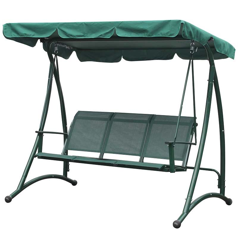 Greenfingers tuscany 3 seater garden swing seat on sale for Extra wide swing seat
