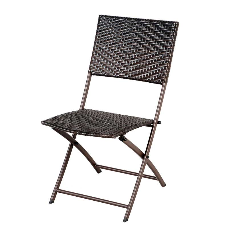 Greenfingers rattan 2 folding chairs 60cm square bistro set - Cane bistro chairs ...