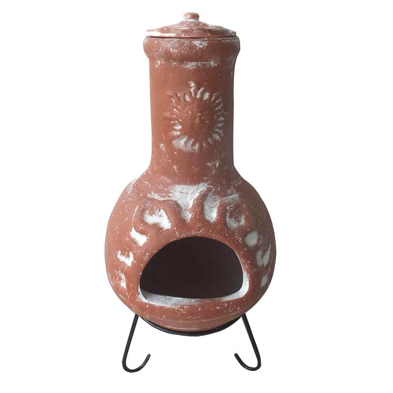 Garden clay chiminea choosing a chiminea for your for Terracotta chiminea