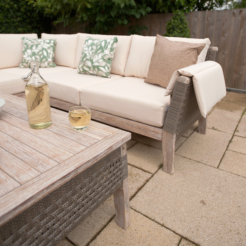 Ellister granada 6 seat sofa set with footstools table on sale for Sanchez granada sofas