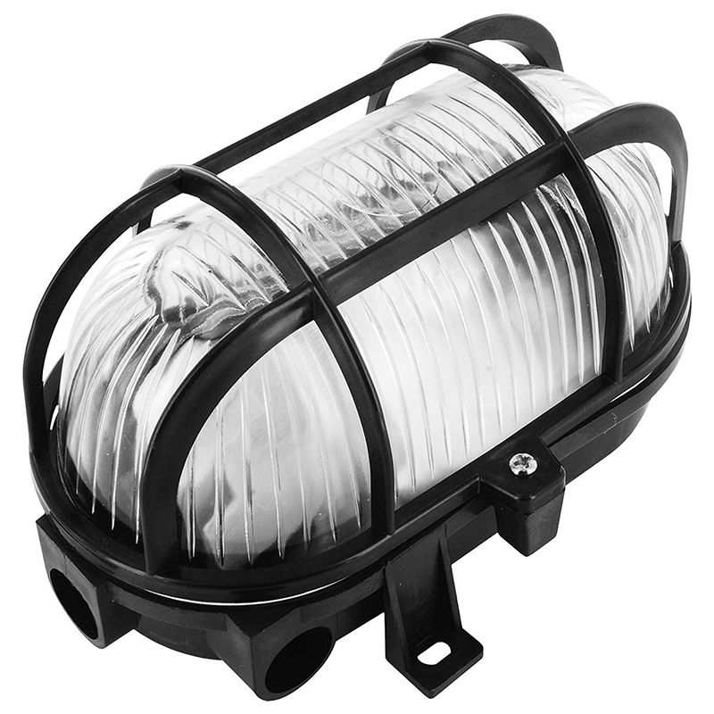 Byron Oval Bulkhead 60w Black on Sale  Fast Delivery