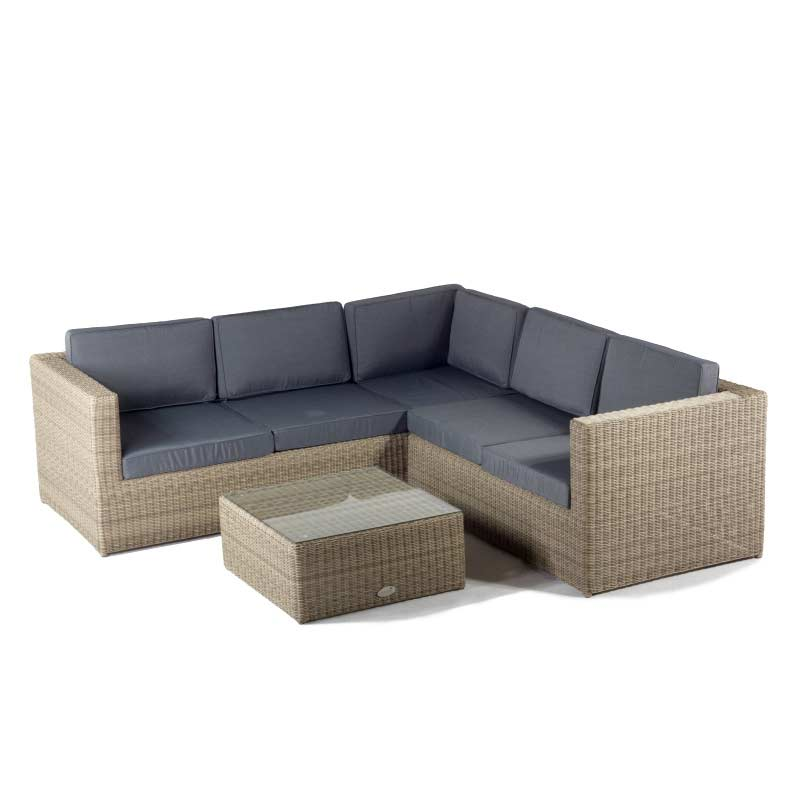 oseasons hampton rattan 5 seater 68cm square lounge sofa set. Black Bedroom Furniture Sets. Home Design Ideas