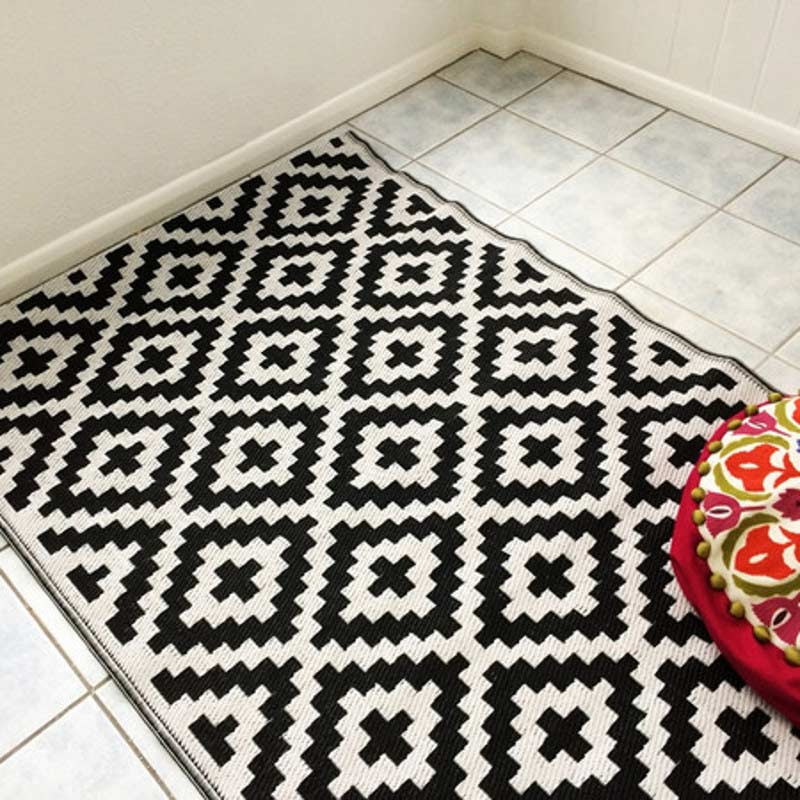Nirvana Black and White Outdoor Rug 150 x 240cm on Sale