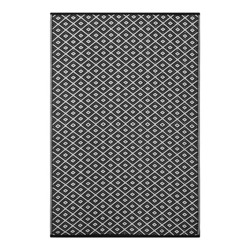 Arabian Nights Black and White Outdoor Rug 120 x 180cm on Sale