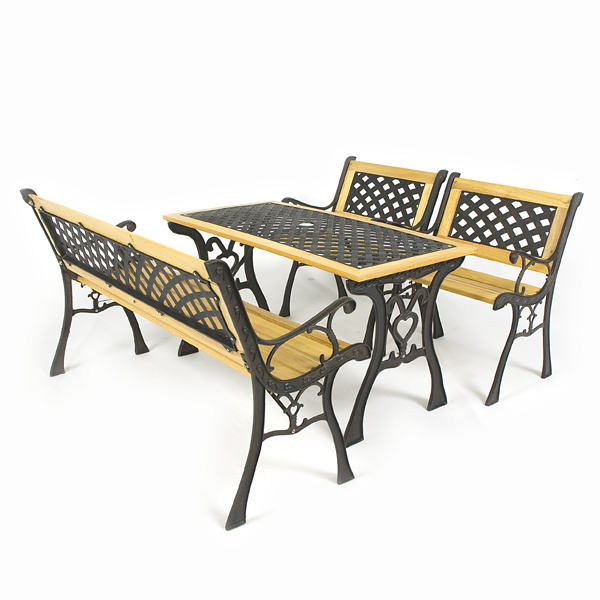 Garden Table With Parasol Hole Images