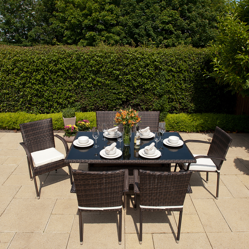 Greenfingers 6 Seater Dining Set Blackbrown On Sale Fast