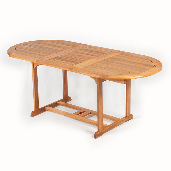 Greenfingers Portland FSC Acacia Oval Extending Table 200cm